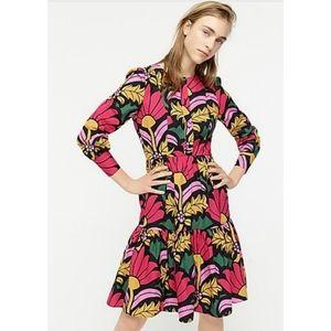 J. Crew Tiered Dress in Ratti grandi fiori print